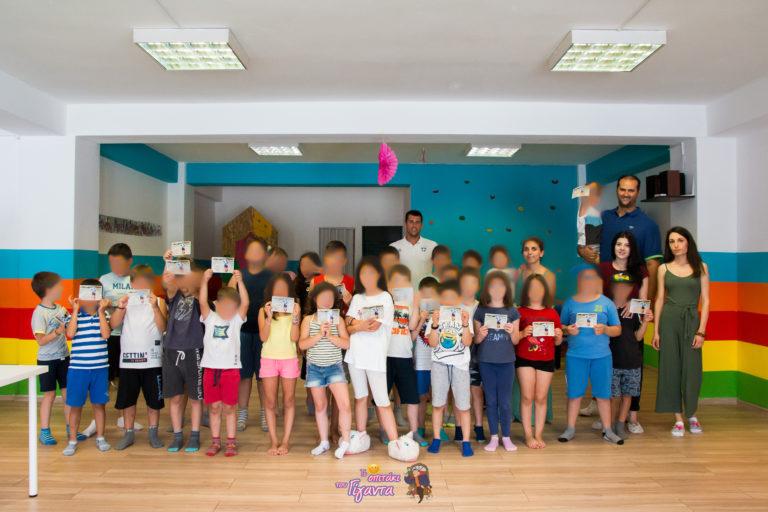 """Επίσκεψη του Ολυμπιονίκη """"Γιάννη Τσίλη"""", στο Σπιτάκι του Γίγαντα"""